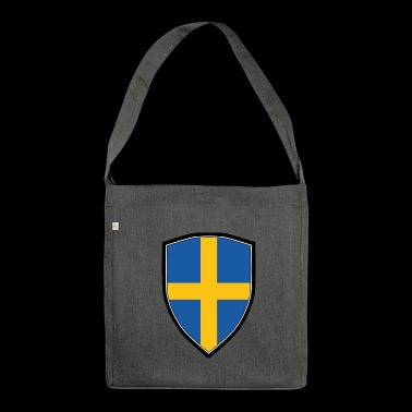 SWEDEN FLAG SHIELD - Schultertasche aus Recycling-Material