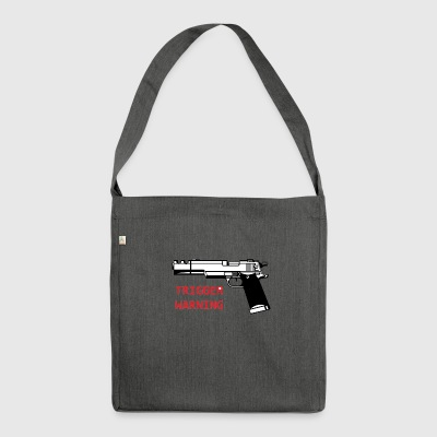 Anti-Snowflake Trigger Warning Collection - Shoulder Bag made from recycled material