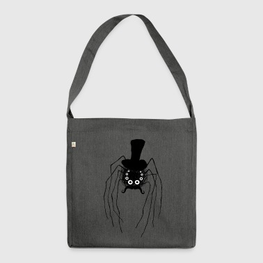 Steampunk spider with cylinder - Shoulder Bag made from recycled material