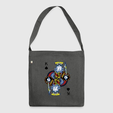 King of Spades Poker Hold'em - Schultertasche aus Recycling-Material
