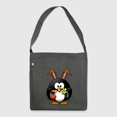 Ostern Pinguin - Schultertasche aus Recycling-Material