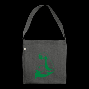 Strong muscle biceps - Shoulder Bag made from recycled material