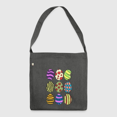 Easter eggs - Shoulder Bag made from recycled material