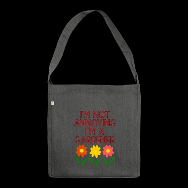 garden gardener garden flowers plants58 - Shoulder Bag made from recycled material