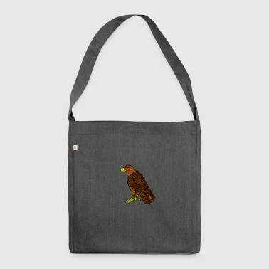 sitting raptor - Shoulder Bag made from recycled material