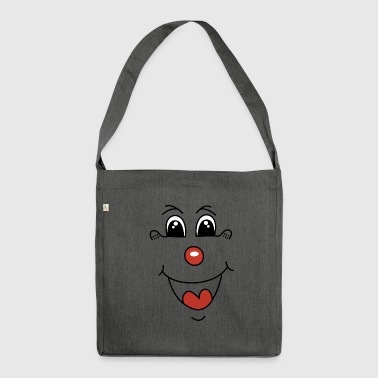 Clown, kasper, mask - Shoulder Bag made from recycled material