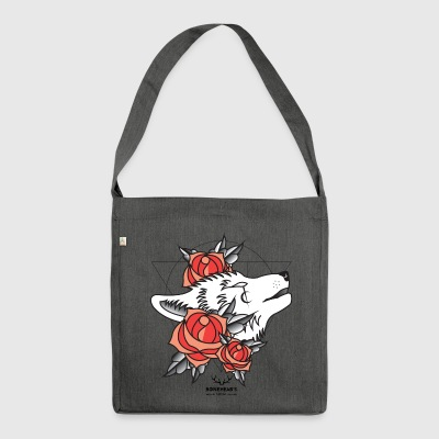 Wolfhead - Schultertasche aus Recycling-Material