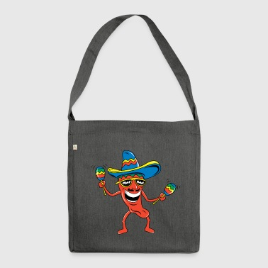 Mexican Chili Pepper Funny Mexican - Shoulder Bag made from recycled material