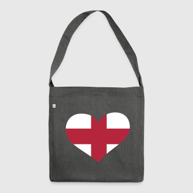 England Herz; Heart England - Shoulder Bag made from recycled material