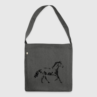 Horse_freedominside - Schultertasche aus Recycling-Material