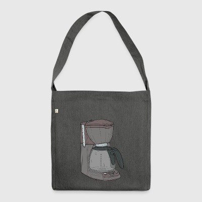 cafe machine - Shoulder Bag made from recycled material