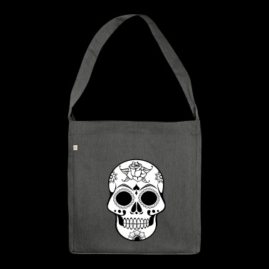 Skull Decorated - Shoulder Bag made from recycled material