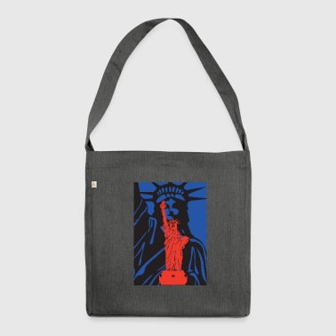 Statue of Liberty-statue of liberty-USA - Shoulder Bag made from recycled material