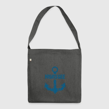 Fashionbutze Anker Nordsee blau - Schultertasche aus Recycling-Material