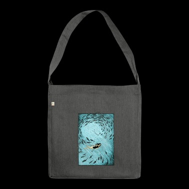 Under the water - Shoulder Bag made from recycled material