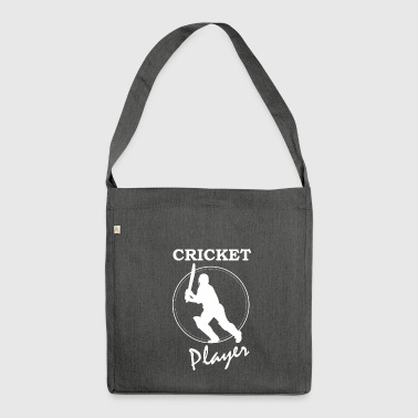 Cricket Gift - Cricketer Pitcher Catcher - Shoulder Bag made from recycled material