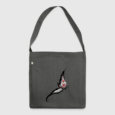 cherry Schmetterling - Schultertasche aus Recycling-Material