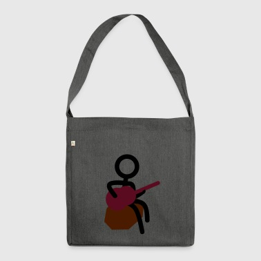 Stickman musician - Shoulder Bag made from recycled material