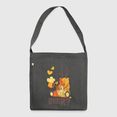 BEAR? - beer beer tent bear bear shirt motif - Shoulder Bag made from recycled material
