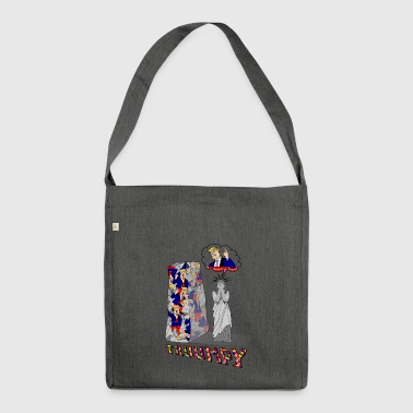 t-shirt truumpy Trump low level of politics - Shoulder Bag made from recycled material