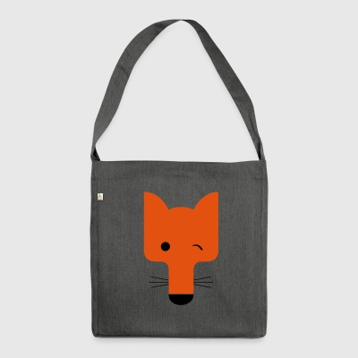 Fox blinking - Shoulder Bag made from recycled material