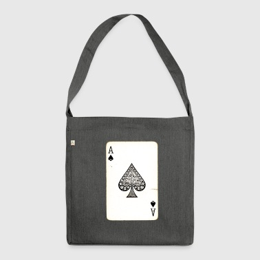 Games Card Ace Of Spades - Shoulder Bag made from recycled material