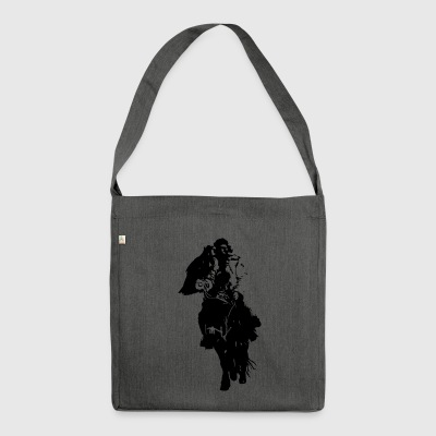 Lonely Mongol I black I - Shoulder Bag made from recycled material
