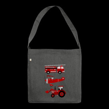 vehicles - Shoulder Bag made from recycled material