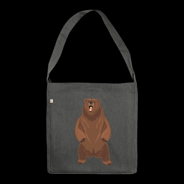 Grizzly bear - Shoulder Bag made from recycled material