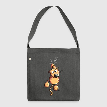 Sporty Cat - Shoulder Bag made from recycled material