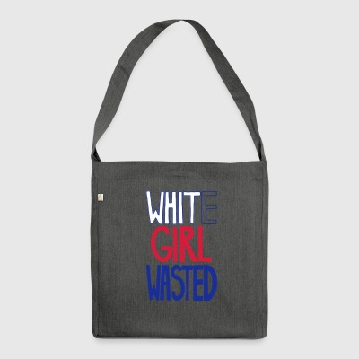 White Cracked Old Fun Gift Irony - Shoulder Bag made from recycled material