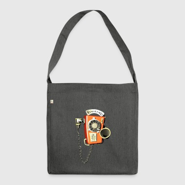 Ringlord phone wall phone - Shoulder Bag made from recycled material