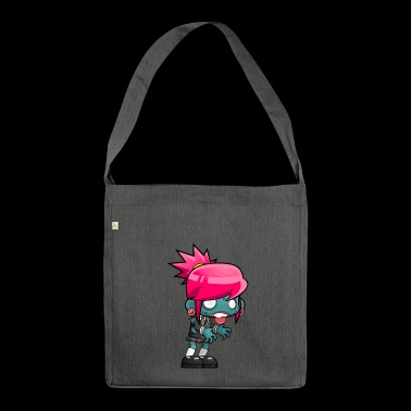 Halloween cartoon character - Shoulder Bag made from recycled material