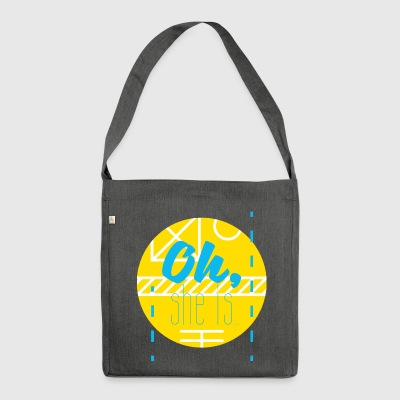 jonghyun - oh, she is... - Schultertasche aus Recycling-Material