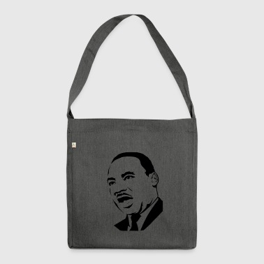 martin luther king stencil - Schoudertas van gerecycled materiaal