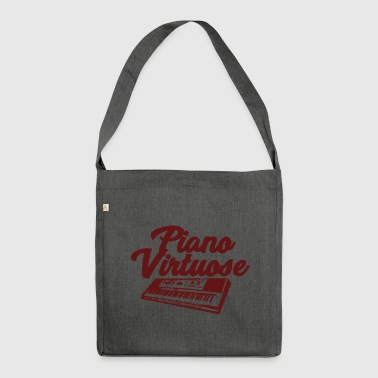 Piano Virtuose - Musik - Schultertasche aus Recycling-Material