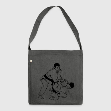 Judo / Judoka in action or at the throw :) - Shoulder Bag made from recycled material