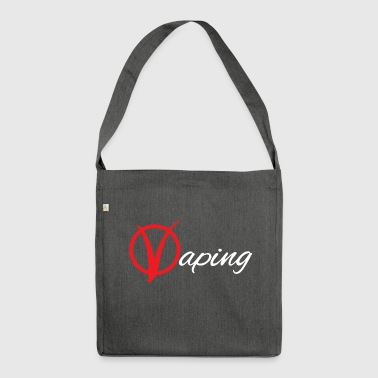 Vaping V - Schultertasche aus Recycling-Material
