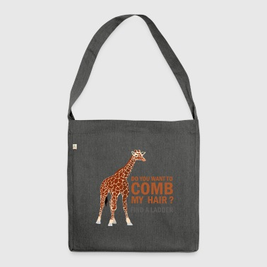 GIRAFE, DO YOU WANT TO COMB MY HAIR? - Shoulder Bag made from recycled material