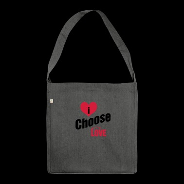 i choose love Design City @PAN of Scandinavia - Shoulder Bag made from recycled material
