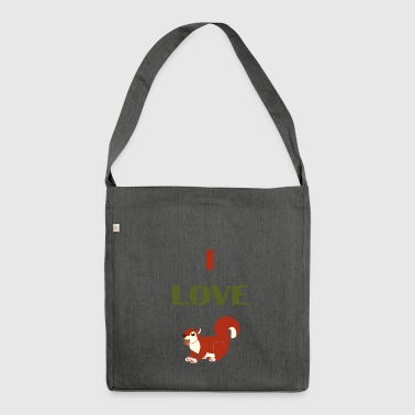 I LOVE Squirrel - Shoulder Bag made from recycled material