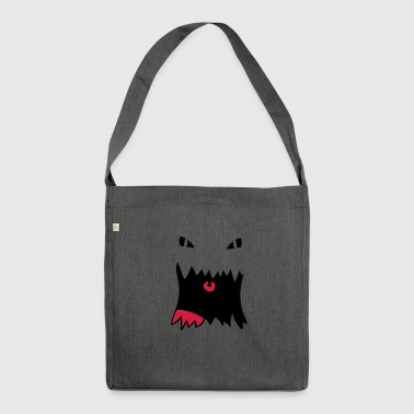 Monster Face - Shoulder Bag made from recycled material