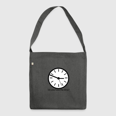 douhavethetime - Schultertasche aus Recycling-Material