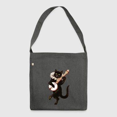 Cat funny - Shoulder Bag made from recycled material