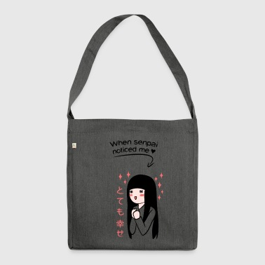 When Senpai Noticed Me - Schultertasche aus Recycling-Material