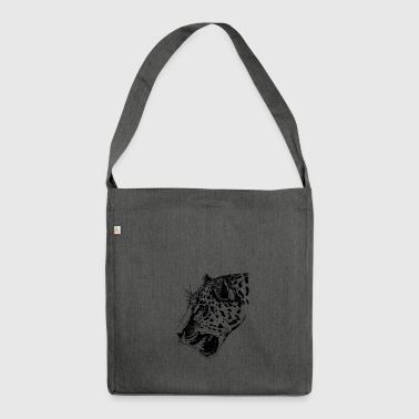 Leopard, leopard head - Shoulder Bag made from recycled material