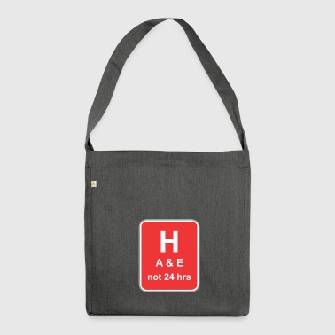 Road sign H A 24 hours - Shoulder Bag made from recycled material