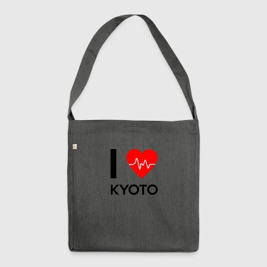 I Love Kyoto - Ich liebe Kyoto - Schultertasche aus Recycling-Material