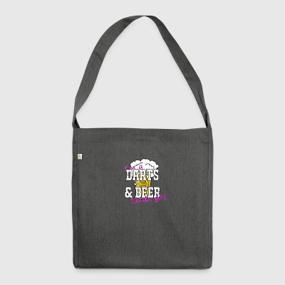 Darts and Beer T-Shirt - Shoulder Bag made from recycled material