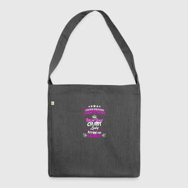 Sexy chubby lady funny sayings - Shoulder Bag made from recycled material